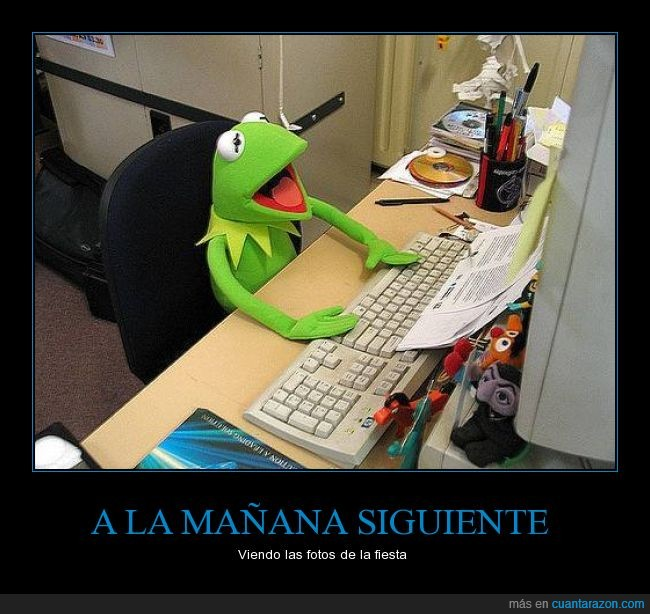 barrio sesamo,etiquetar,Fiestas locas,Fotos,Gustavo,Kermit,Rana Rene,salir