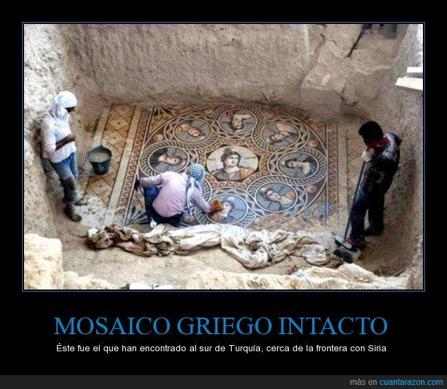 antiguo,arte,excavación,Griego,hallazgo,mosaico,zeugma