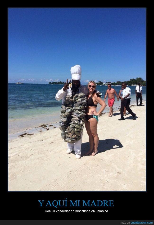 arena,bikini,droga,isla,Jamaica,mar,marihuana,playa