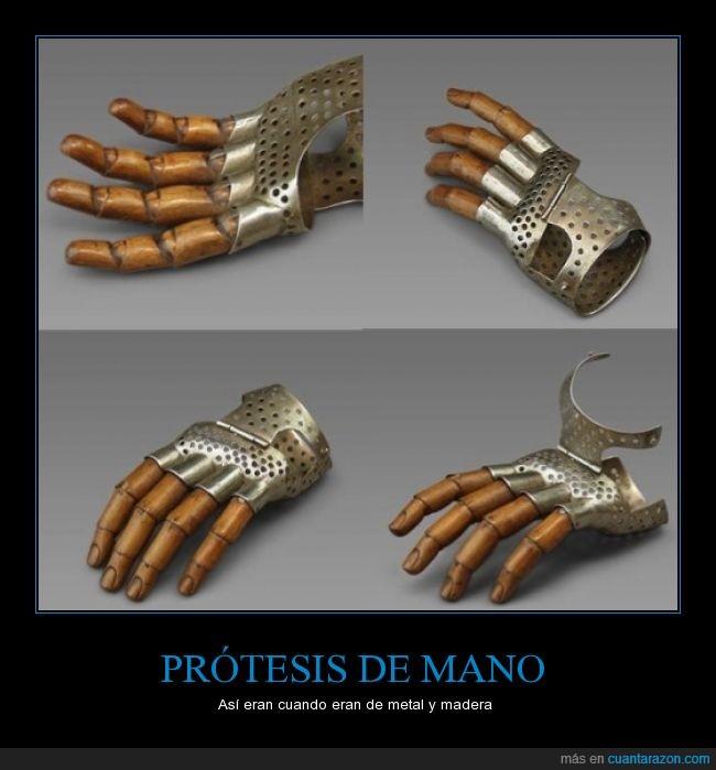 dedos,madera,mano,metal,prótesis
