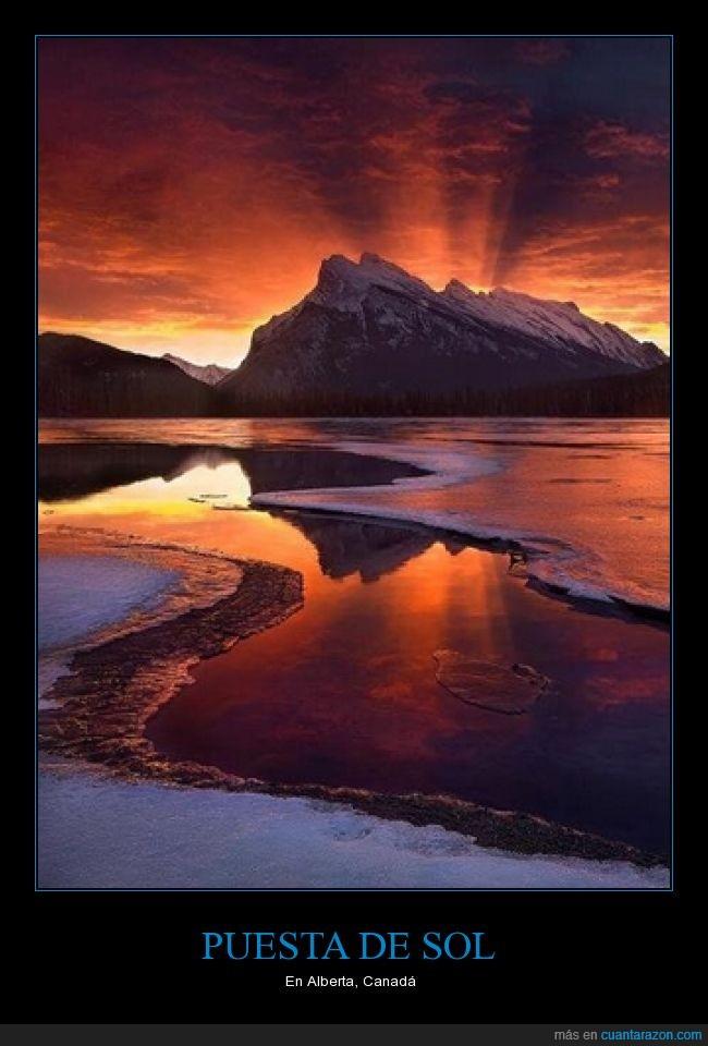 alberta,bonito,canada,color,impresionante,paisaje,puesta,sol,viajar