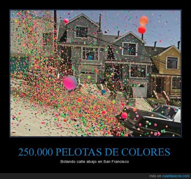 2500000 pelotas,arte,artistico,colores,colorines,goma,proyecto,San Francisco