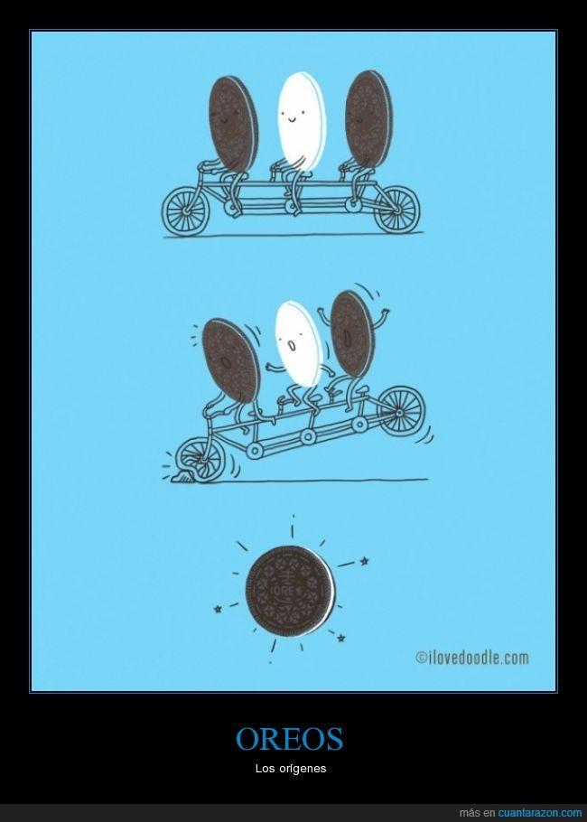 bicicleta,galleta,juntar,oreo,tandem