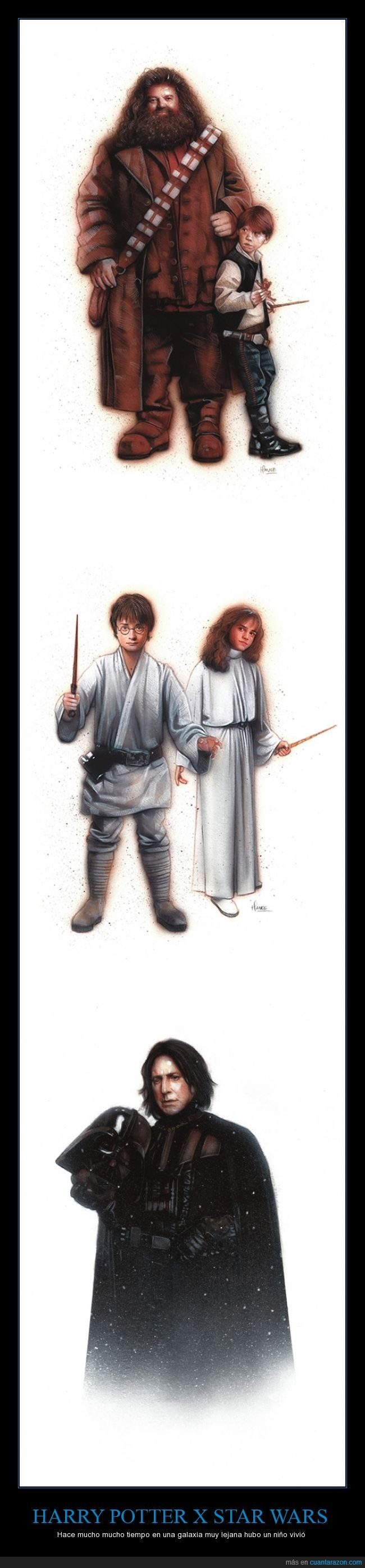 chewbacca,darth vader,hagrid,harry potter,hermione,ron,snape,star wars