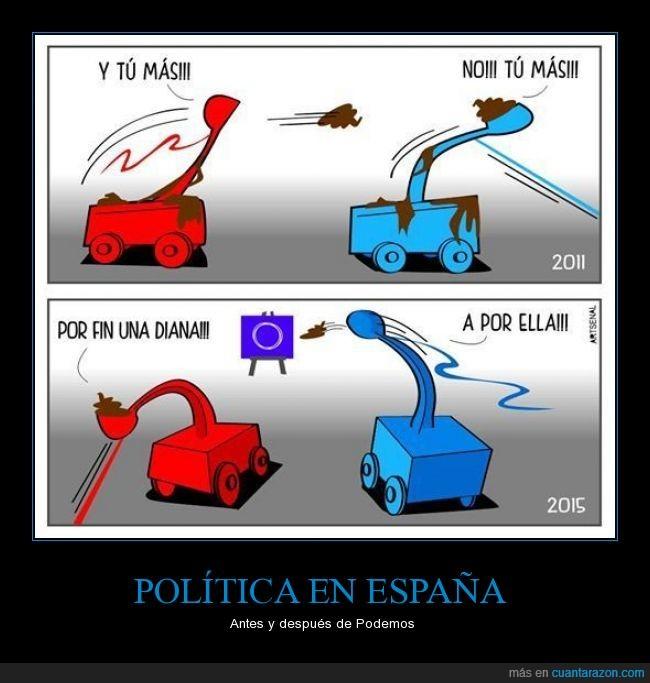 catapulta,contra,heces,otros,Partido Popular,podemos,politica,PP,PSOE,tirar,todos,unos