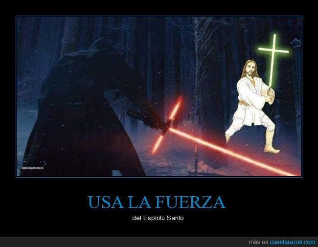 fuerza,Jesus Jedi,laser,sable,sith,Star Wars