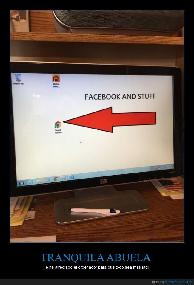 abuela,abuelo,arreglar,chrome,explorador,facebook,flecha,fondo de pantalla
