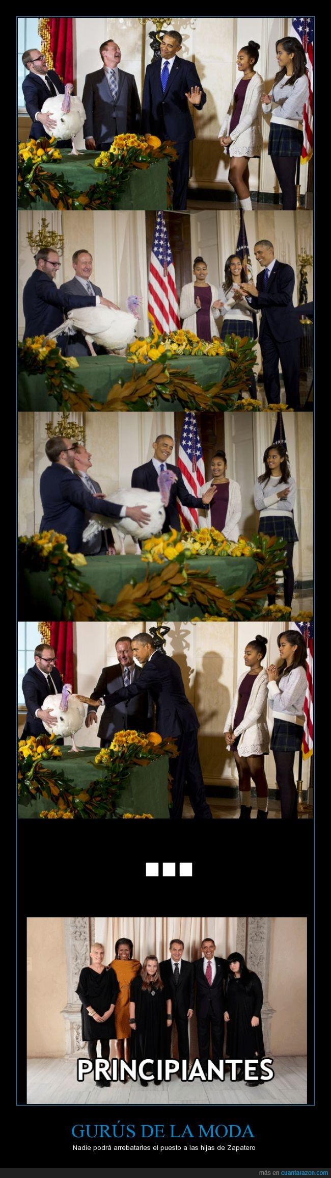accion de gracias,corta,foto,goticas,hijas,largo,negro,obama,oficial,ropa,vestido,zapatero