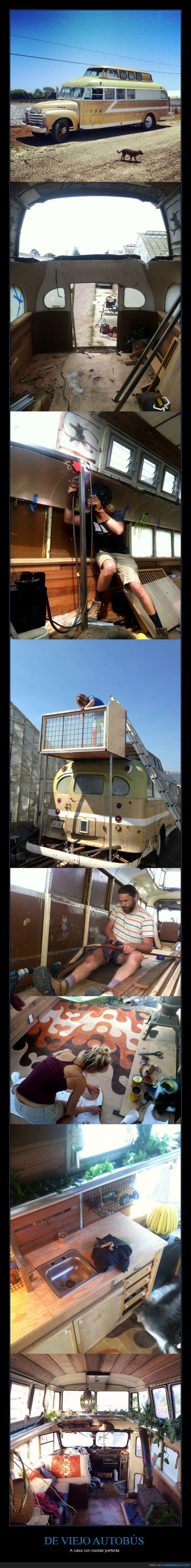 autobus,autocaravana,bus,caravana,casa,estados unidos,hogar,remodelación,Ryan Lovelace,surf,surfero,vintage