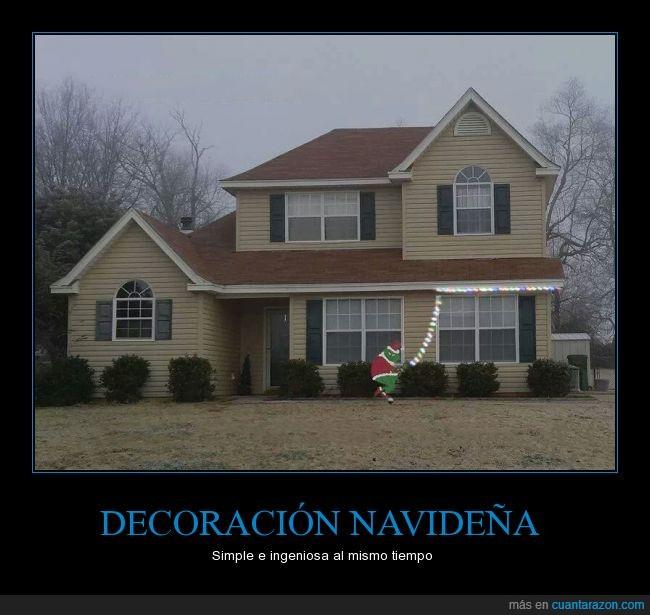 casa,decoración,grinch,idea,ingenio,luces,navidad