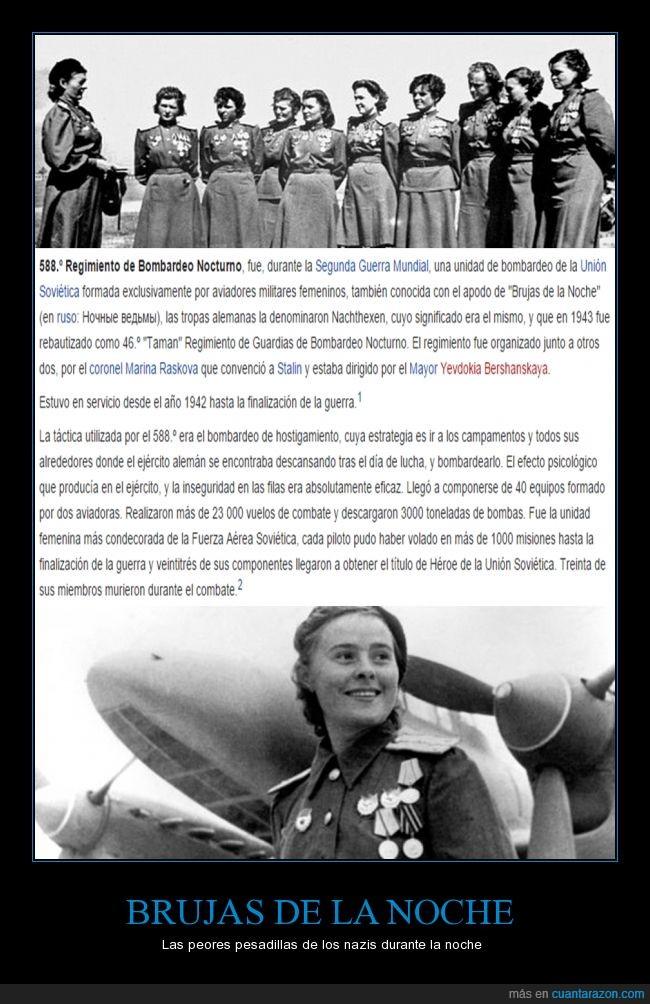 1943,588º Regimiento de bombardeo nocturno,brujas nocturnas,nazis,rusas,union sovietica