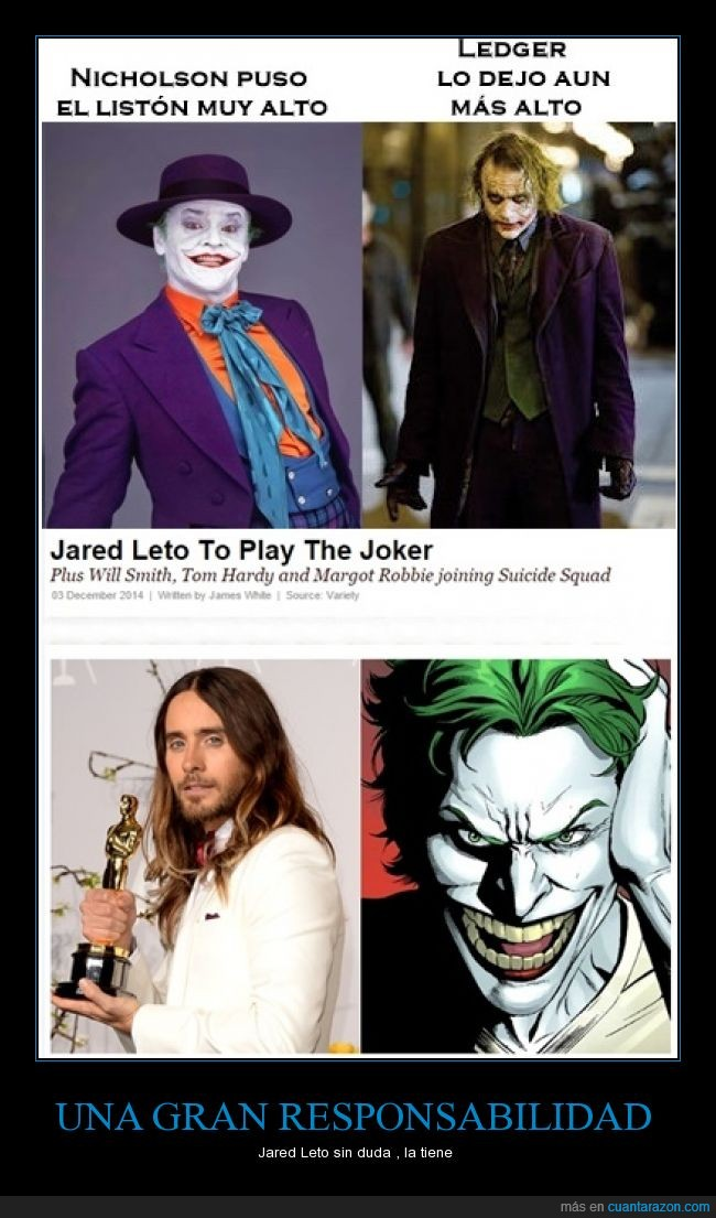 actor,Jared Leto,Joker,nuevo,personaje,Suicide Squad