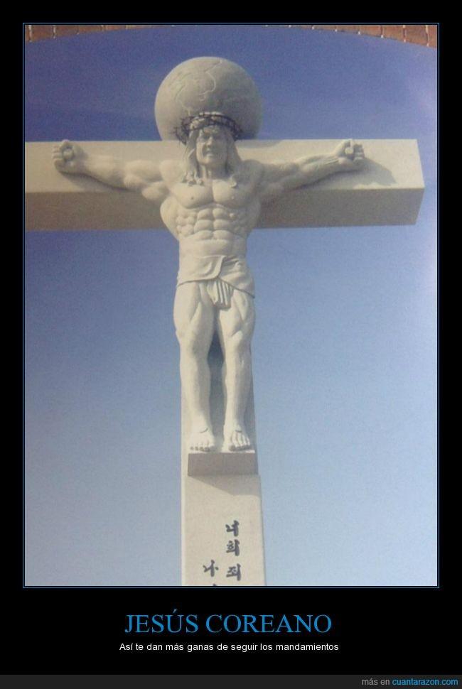 cachas,corea,cruz,cuadrado,Dios,fuerte,jesús,religión