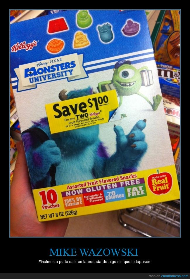 disney,etiqueta,james p sullivan,mike,mike wazowski,monsters inc,monstruos sa,monstruos university,no me lo puedo creer,pixar,sulley