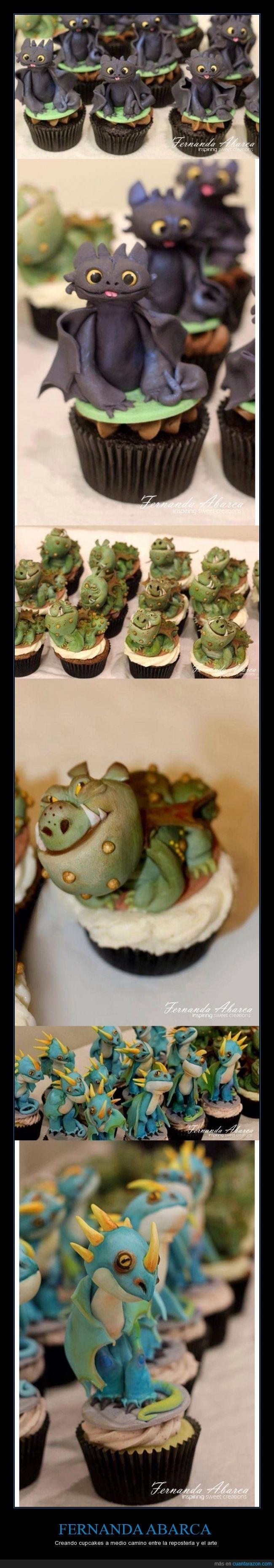 comer,comida,cómo entrenar a tu dragón,cupcape,Desdentao,dragon,frosting,furia nocturna