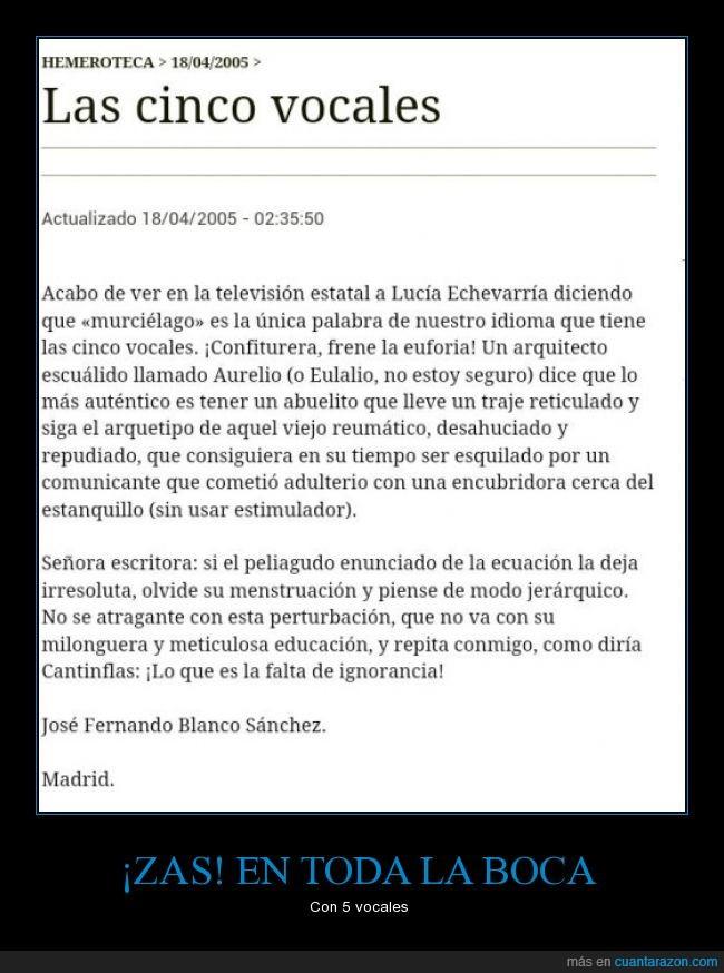 error,ignorancia,Lucía Etxebarria,vocabulario