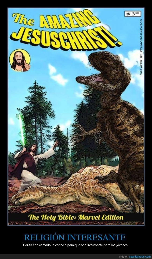 biblia,dinousarios,marvel edition,religion