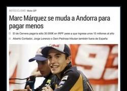 Enlace a Marc Márquez se muda a Andorra para pagar menos