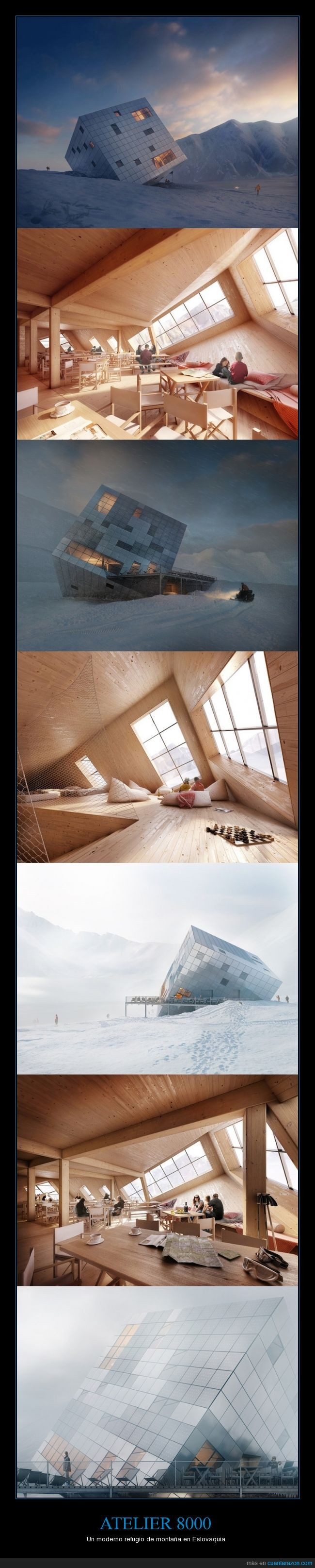 arquitectura,arte,curioso,moderno,montaña,refugio