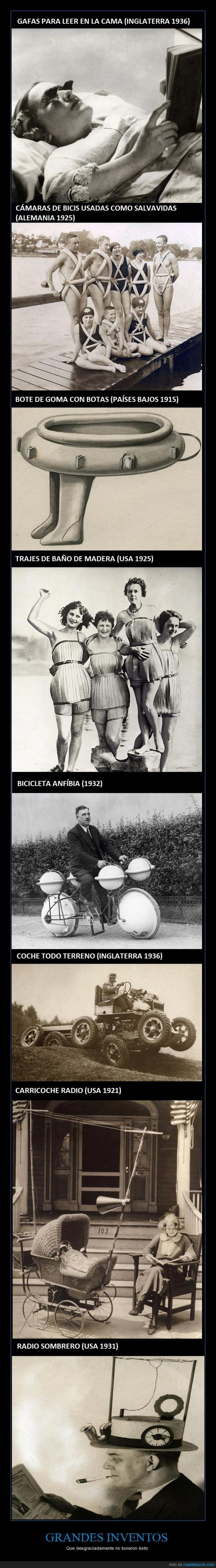 bañadores,bici,exito,inventos,locuras,madera,mujeres,radio,salvavidas,sombrero