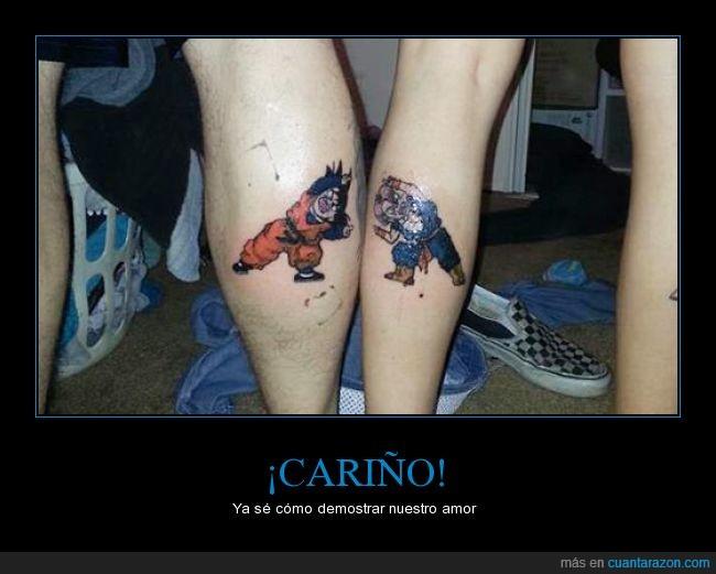 amor,dbz,dragon ball,fusion,gemelo,son goten,tattoo,tatuaje,trunks