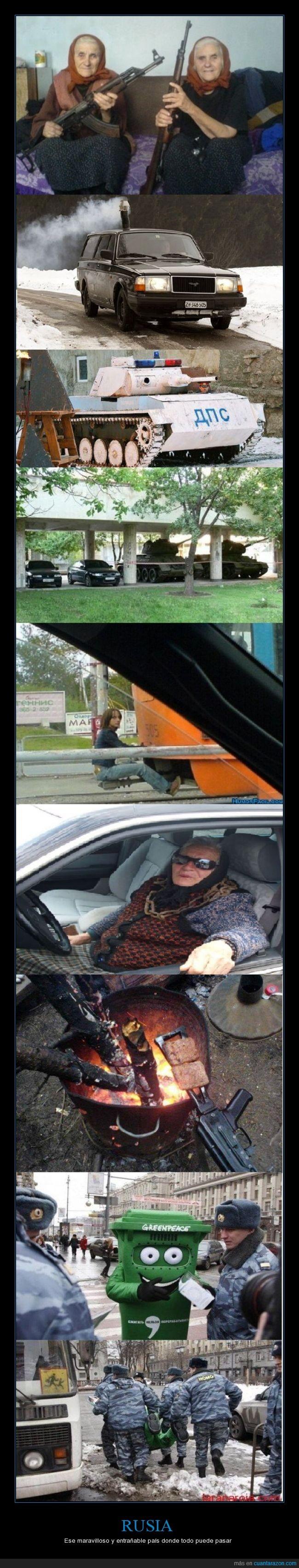 Ancianas Canis,arma,fuego,Greenpeace,las gemelas del resplandor se volvieron rusas y armadas,papelera,pistola,Putin,Rusia,rusos,WTF