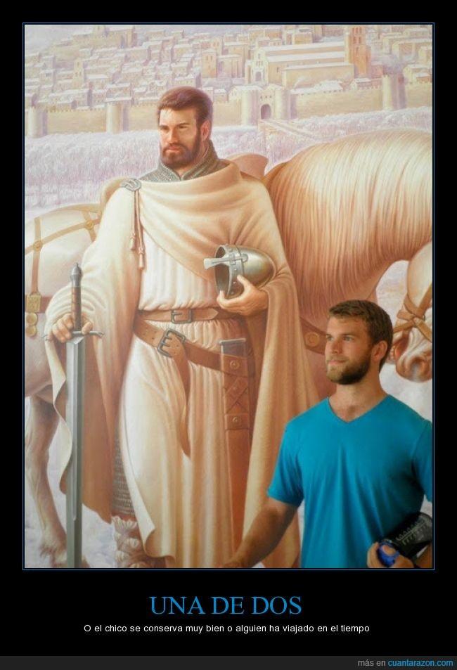 barba,cara,chico,cruzadas,cruzado,cuadro,espada,joven,legionario,misma,moreno,museo,rubio,soldado