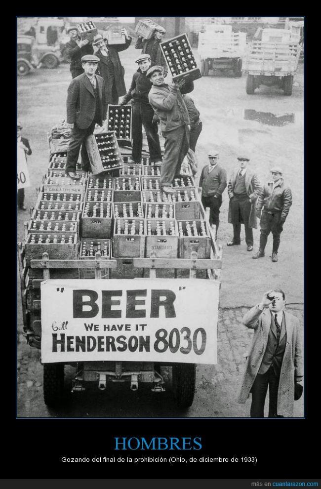beber,gozando,gozar,hombre,ley seca,Ohio,prohibicion