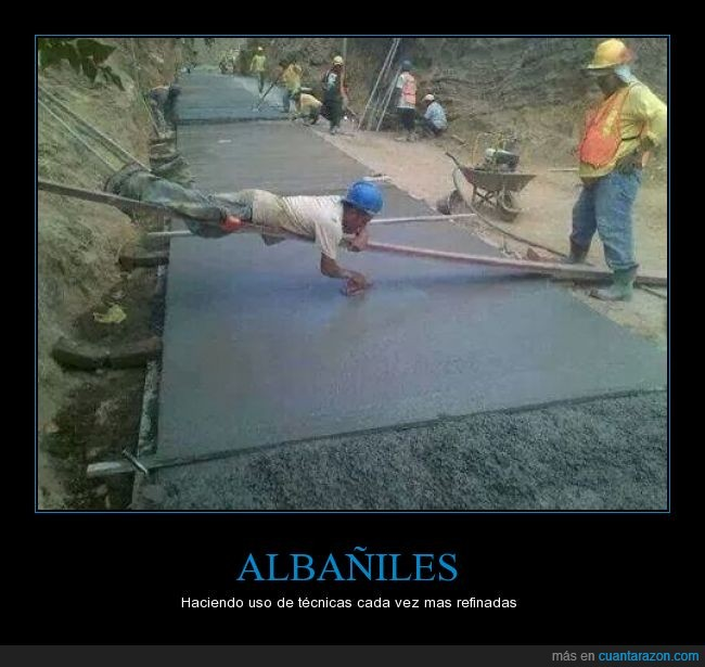albañil,alisar,cemento fresco,construcción de carreteras,huella,pasar,tecnica rudimentaria