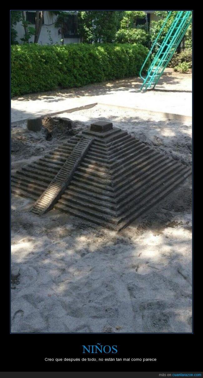 arena,azteca,escalonada,ingenio,juegos infantiles,maya,piramide,precolombina
