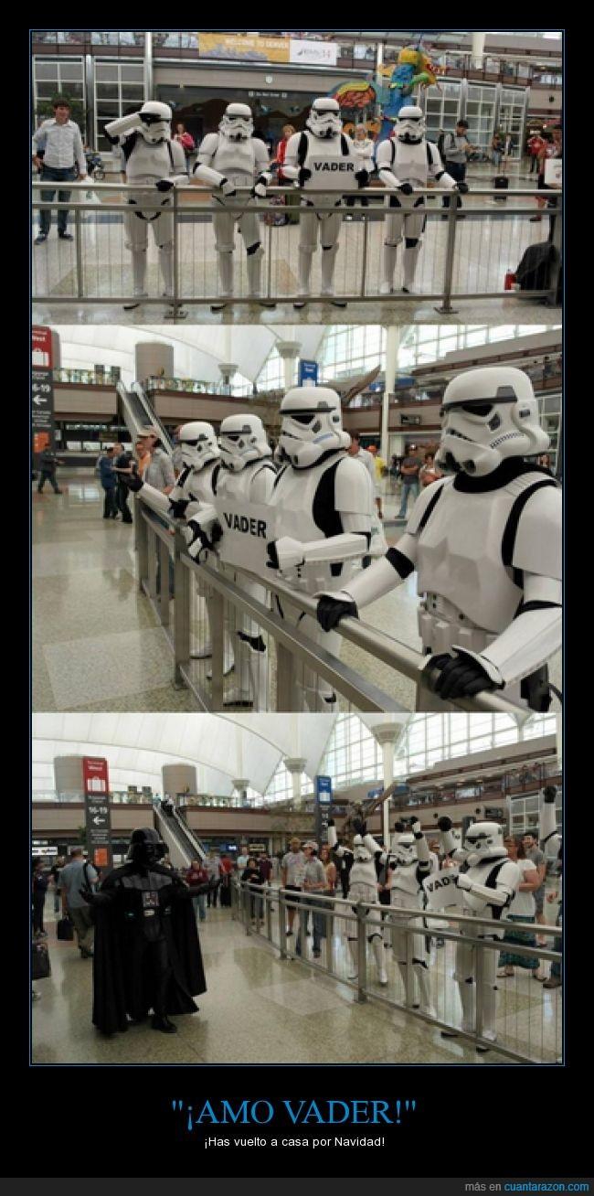 aeropuerto,buscar,como el langostino,Darth Vader,línea Endor-Barajas,recoger,Stormtroopers