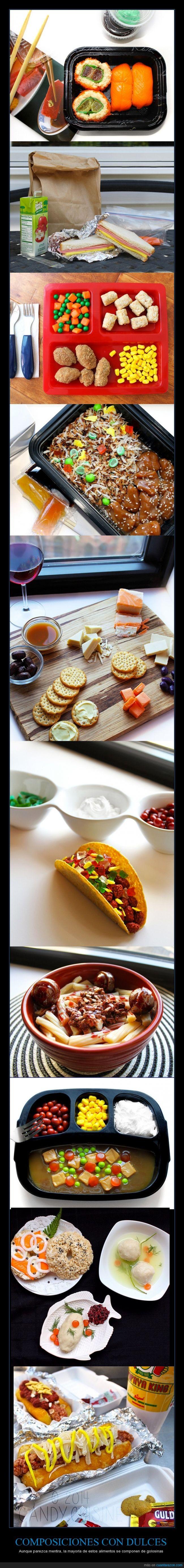 chucherias,chuches,comida,curioso,fotografia,pasta,perrito caliente,queso,sushi,taco