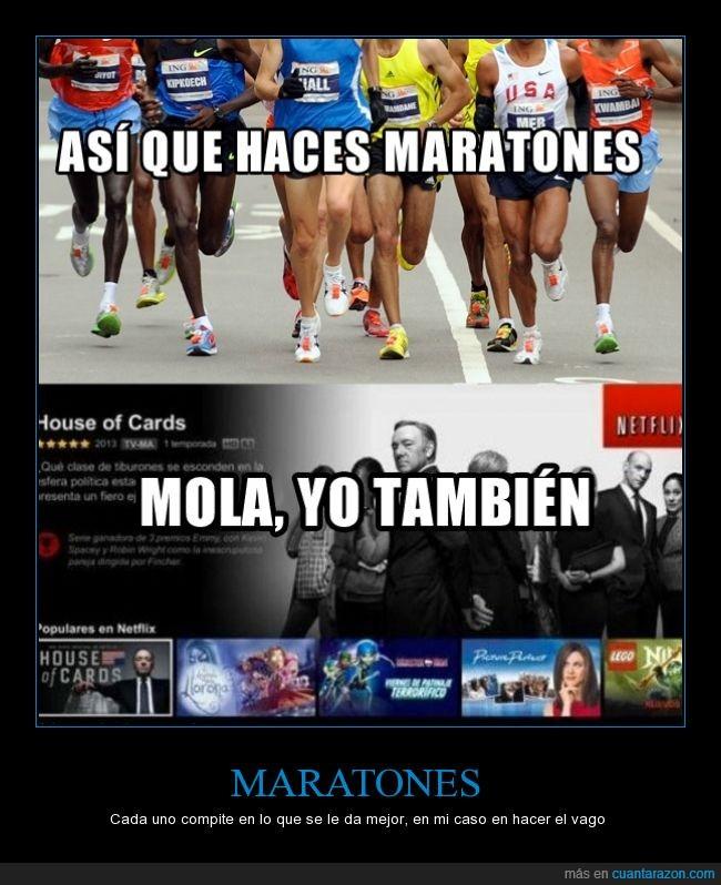 correr,house of card,maraton,pereza,serie,vago,ver