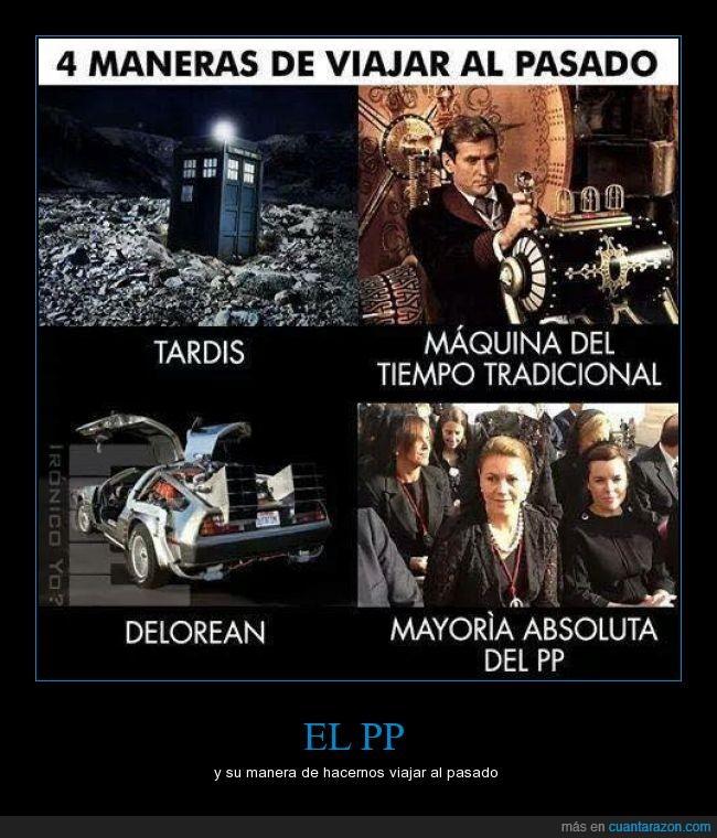 back to the future,derechos,doctor who,hijos de mala madre,pasado,pp,recortes,reformas,viaje en el tiempo