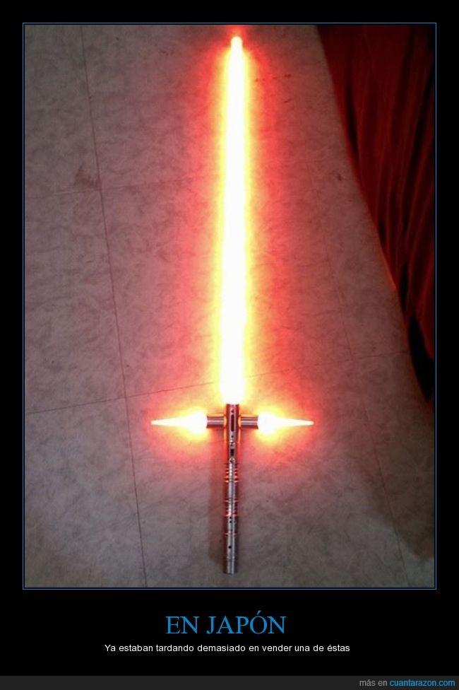 cruz,el despertar de la fuerza,empuñadura,espada,sable,Star Wars,Star Wars VII,the force awakens,triple,vender