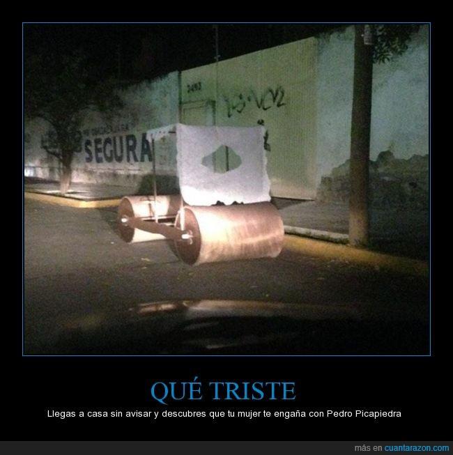 auto,calle,caricatura,carro,Pedro Picapiedra,troncomóvil