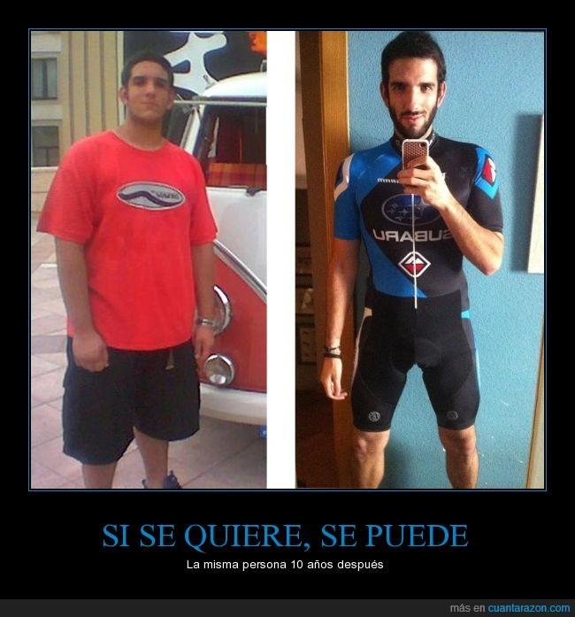 adelgazar,cambio radical,delgado,deporte,en forma,gordo-flaco,peso,sano