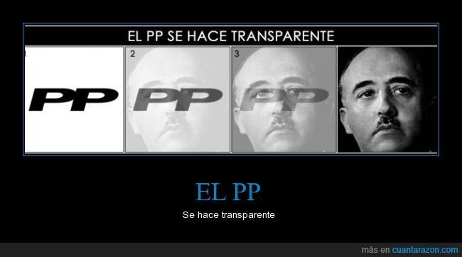 derechas,detras,franco,logo,partido popular,pp,transparencia,transparente