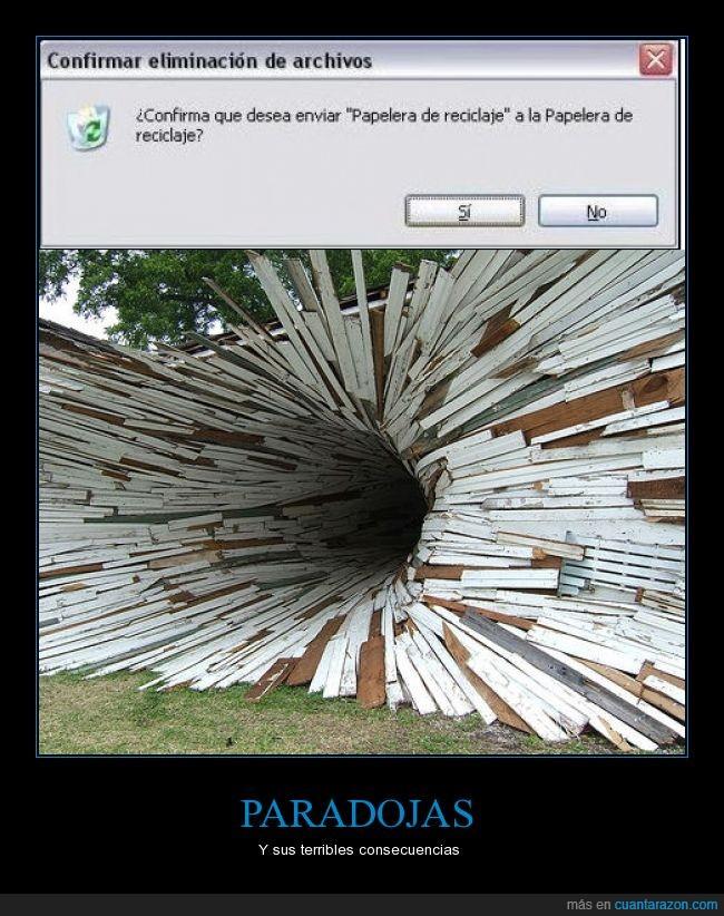 agujero,carpeta,casa,eliminar,implosion,papelera de reciclaje,paradoja