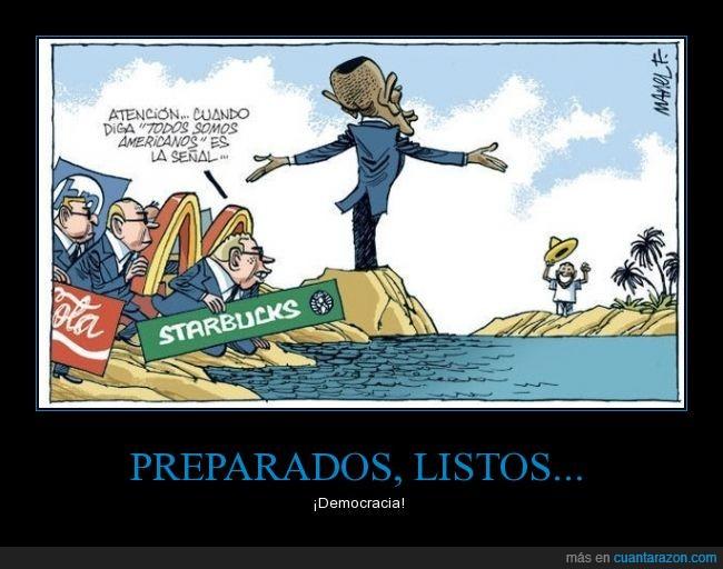 americanos,atencion,cocacola,Cuba,cubanos,Estados Unidos,marca,mcdonald's,starbucks