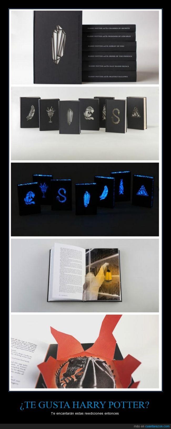 3d,brilla,dragon,edicion,especial,Harry,Harry Potter,minimal,negro,oscuridad,popup,Potter