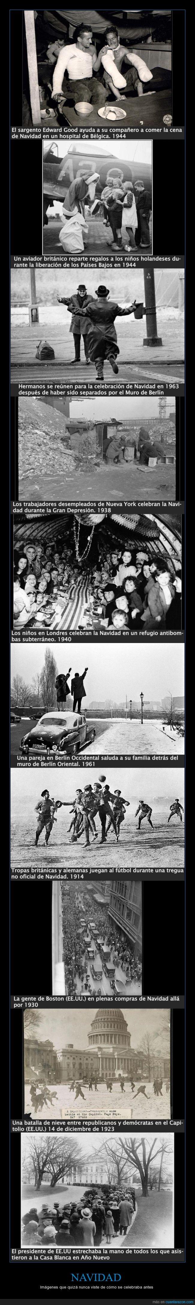 Año Nuevo,aviador británico,batalla de nieve,Berlín Occidental,Berlín Oriental,Capitolio,Casa Blanca,Cena de Navidad,compras de Navidad,demócratas,desempleados,Edward Good,la Gran Depresión,la Guerra Fría,Muro de Berlín,Navidad,Países Bajos,refugio antibombas,regalos,republicanos,Segunda Guerra Mundial,tregua
