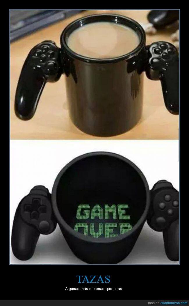 game over,mando,playstation,taza,vaso