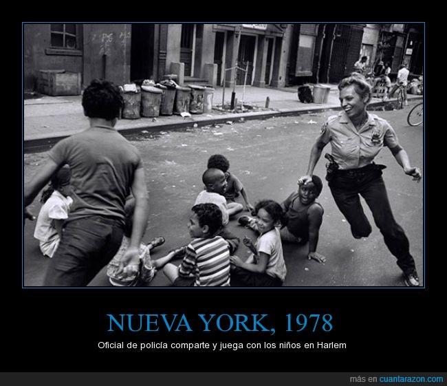 harlem,juego,jugar,niños,nueva york,oficial,policia
