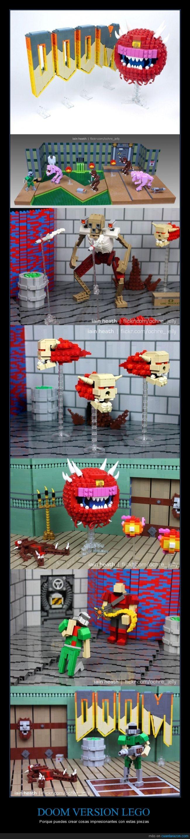 doom,Lego,pieza,videojuego