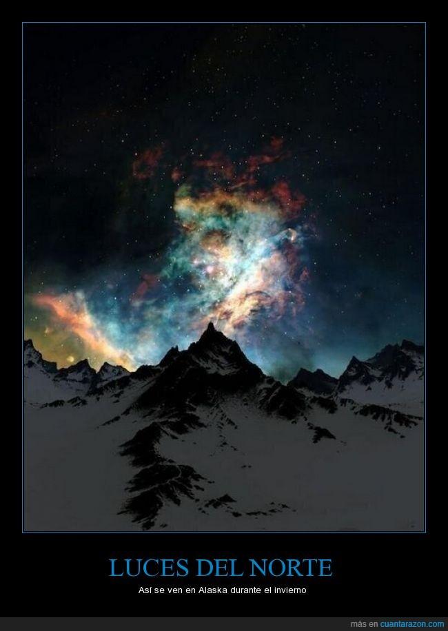alaska,frió,luces del norte,montaña,norte,paisaje