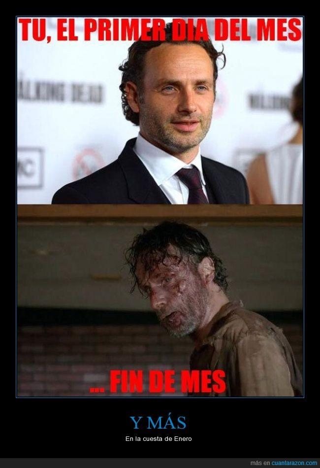destrozado,fin de mes,primer,Rick Grimes,sangre,the walking dead