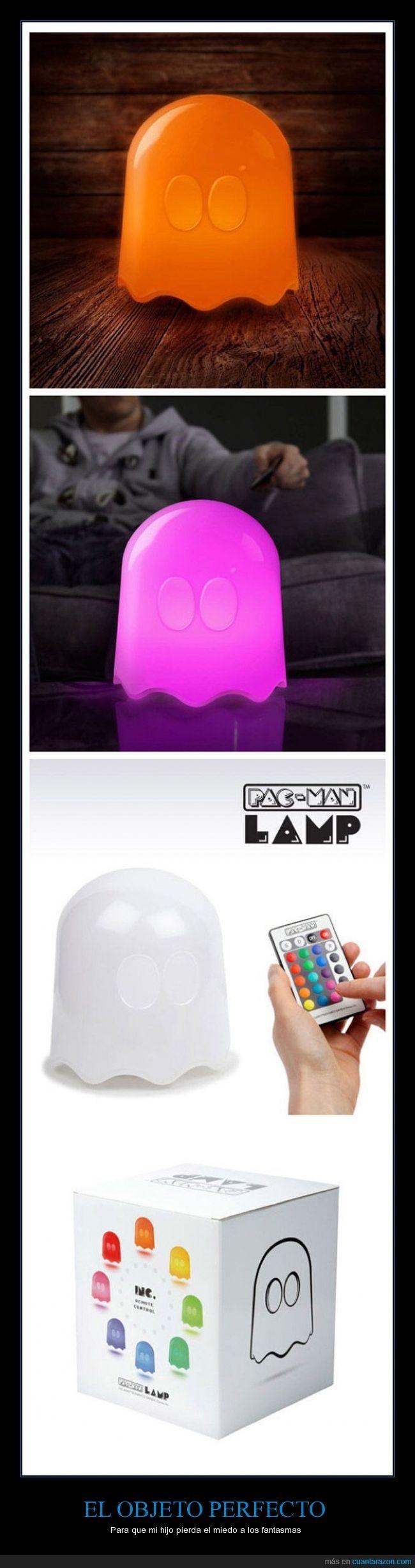 colores,fantasma,hijo,lamp,lampara,luz,miedo,pac man,pac-man,pacman