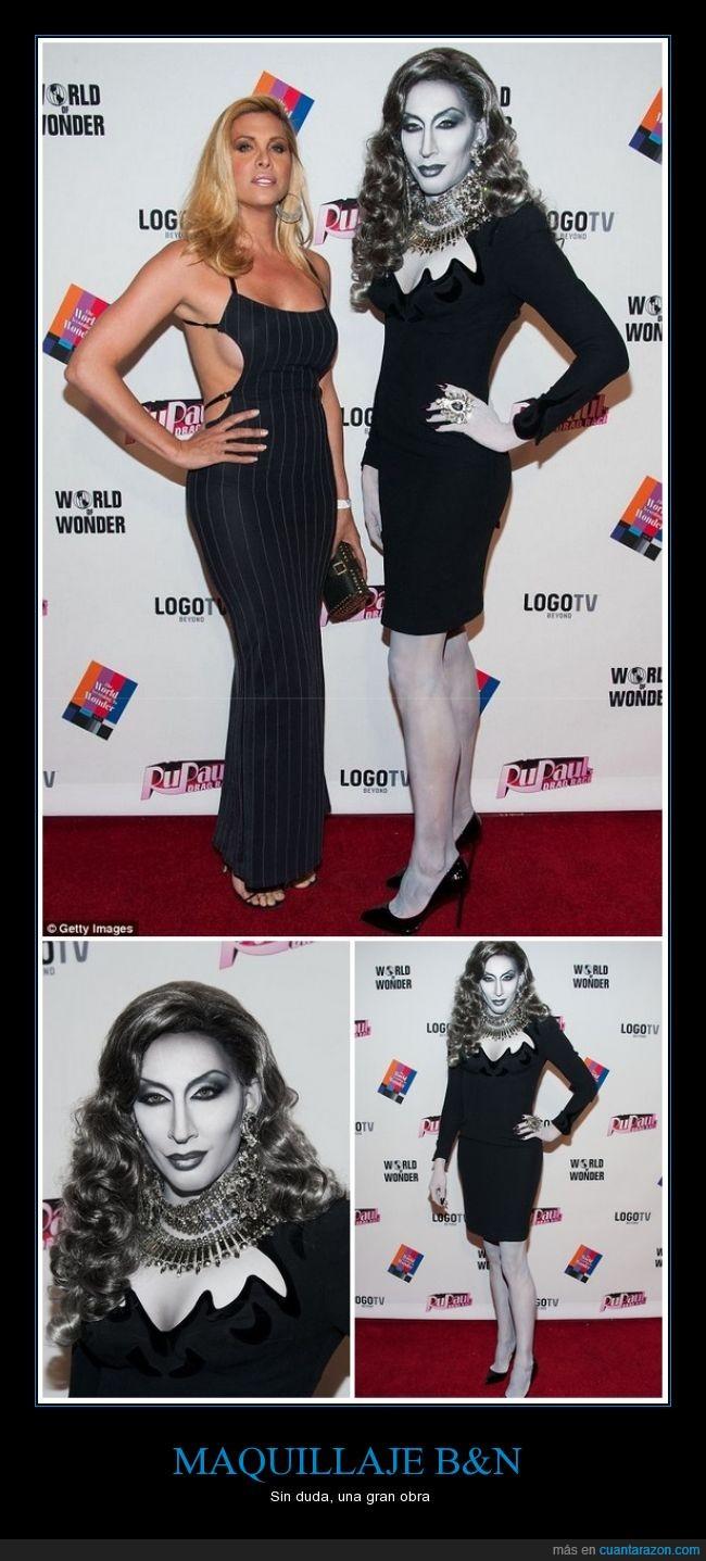 blanco,blanco y negro,detox,drag queen,gris,maquillaje,negro