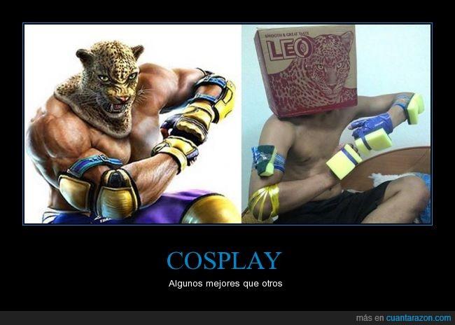 caja,cosplay,cutre,disfraz,el mejor,esponjas,King,Tekken